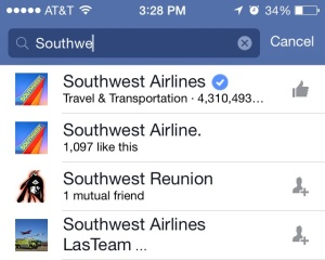 Verified and non Verified Southwest Airlines Companies