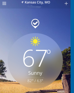 The Weather Channel App for Kansas City