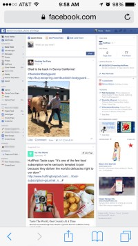 This is what Facebook will look like after you switch it to Desktop Site Option