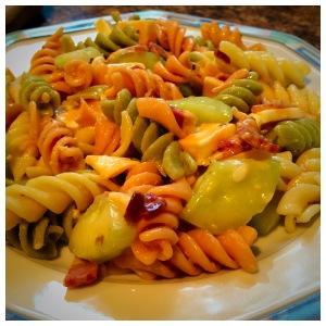 Italian Dressing, Rotini, Colby Jack