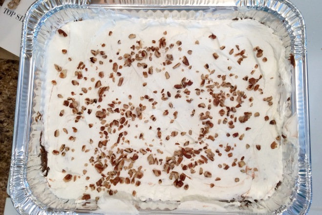 Whipped Chocolate Decadence Dessert with Pecan Topping