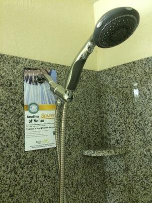 Q Shower at Quality Inn & Suites Bloomington, Illinois