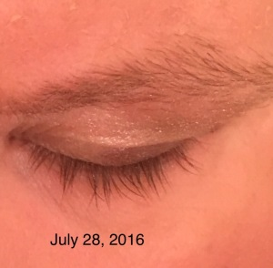 Eyelashes after using Revitalash Advanced eyelash conditioner 4333
