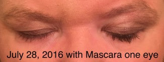 Eyelashes after using Revitalash Advanced eyelash conditioner 4362